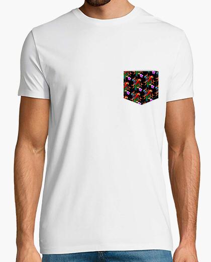 Camiseta Bolsillo Tropical - Hombre, manga corta, blanco, calidad extra