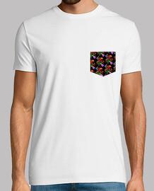 Bolsillo Tropical - Hombre, manga corta, blanco, calidad extra