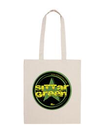 Bolso algodon 8l.logo Sittar 2017 green