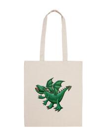 bolso de dragón verde