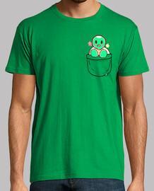 bolso de la tortuga linda - camisa para hombre