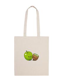 bolso de mano beso manzana kiwi