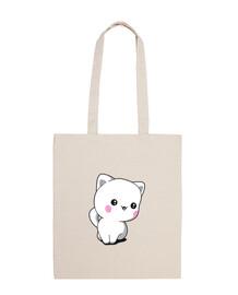 bolso de mano divertido gatito chibbi