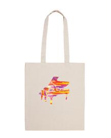 bolso de piano colorido