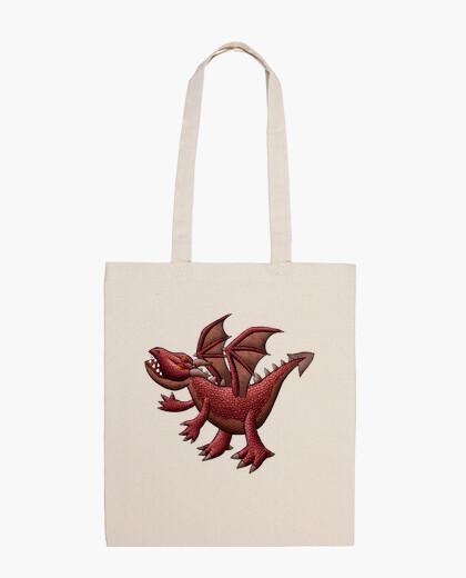 Bolsa bolso rojo del dragón