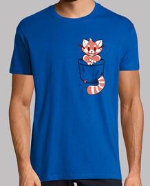 bolso rojo panda - camisa para hombre