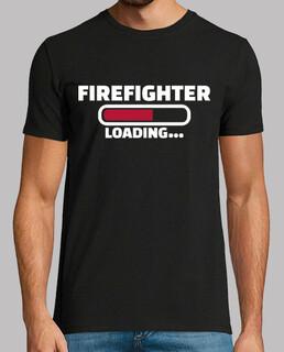 bombero cargando