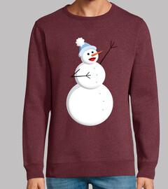 bonhomme de neige chantant heureux mign