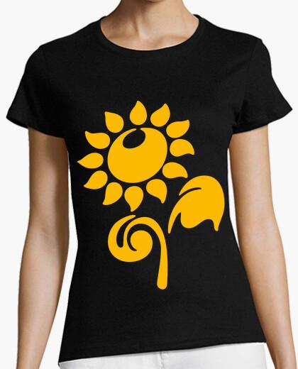 Camiseta Bonita flor amarilla
