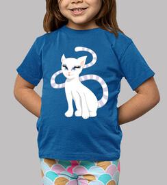 bonita gatita blanca de dibujos animado