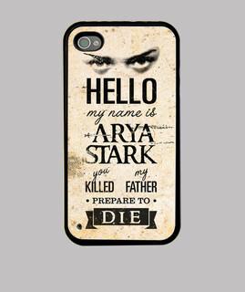 bonjour, mon nom est arya stark - iphone 4