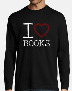 Books camiseta manga larga hombre