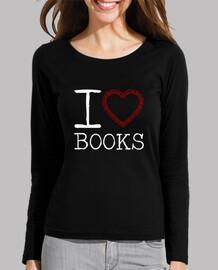 Books camiseta manga larga mujer