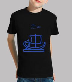 boot (blau)