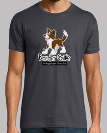border collie cartoon club - brown