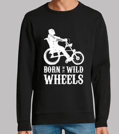 Born to be Wild Wheels dibujo blanco