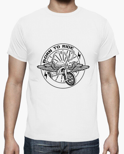 Born to ride black t-shirt