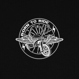 Born to ride white T-shirts