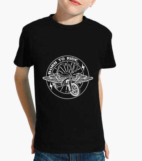 Born to ride white kids t-shirt