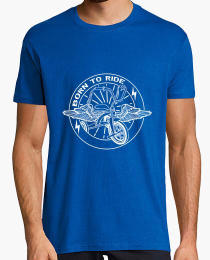 Born to ride white t-shirt