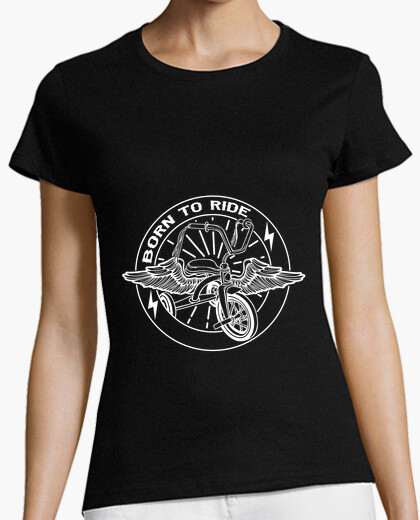 Born to ride white t-shirt