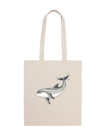 borsa - delfino tela 100 cotone