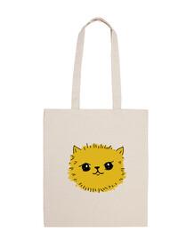 borsa a tracolla in cotone con gattino adorabile!