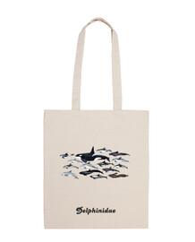 borsa a tracolla orche, delfini e blackfish