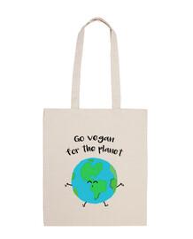 borsa andare vegan for il planet
