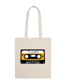 borsa con musicassetta a cassetta