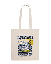 borsa da motocross 1989 biker vintage
