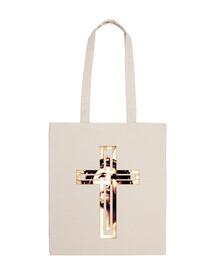 borsa da spiaggia - gesù sulla croce