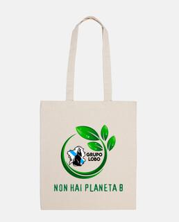 borsa di tela in materiale riciclato.