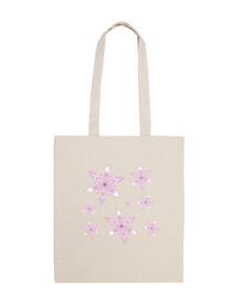 borsa fiocchi di neve sulla spiaggia - rosa & viola