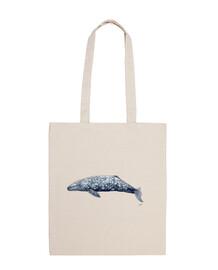 borsa tela balena grigia