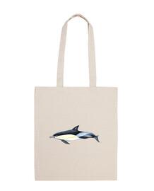borsa tela delfino comune