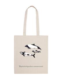 borsa tela delfino di tonina commerson overa