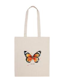 borsa tela farfalla