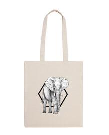 borsa tote bag elefante