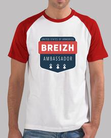 botschafter - t-shirt baseball - mann