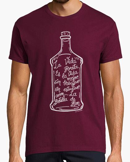 T-shirt bottiglia di rum. (bianco)