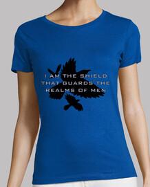 bouclier de la  tee shirt  de filles de royaume
