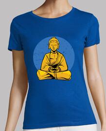Bouddha avec la lune bleue