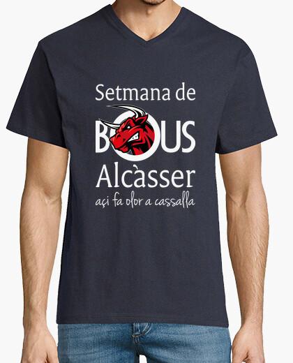 Bous de Alcàsser (Modelo 1) fondo oscuro - Camiseta cuello de pico clásico