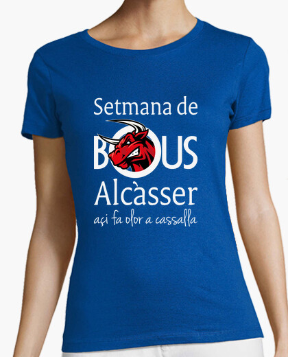 Bous de Alcàsser (Modelo 1) fondo oscuro - Camiseta de chica de tirantes finos