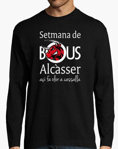Bous de Alcàsser (Modelo 1) fondo oscuro - Camiseta de manga larga