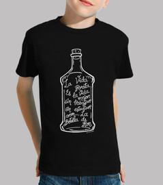 bouteille de rhum. (blanc)