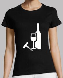 bouteille de verre à vin