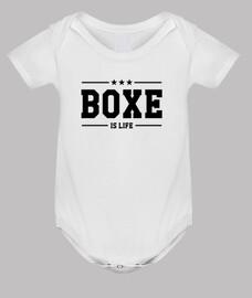 boxeo cuerpo del bebé, blanco