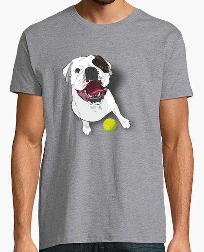 T-shirt boxer chiazza bianca